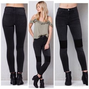 NWOT - Pacsun Patchwork High-Rise Ankle Jeggings